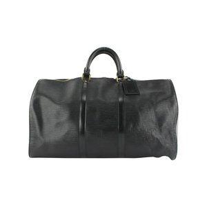 Louis Vuitton Black Epi Leather Noir Keepall 50